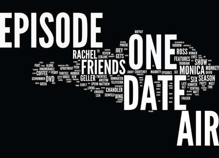 innumerable: FRIENDS DVD REVIEW Text Background Word Cloud Concept Illustration