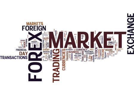 FOREX PROFITS Text Background Word Cloud Concept