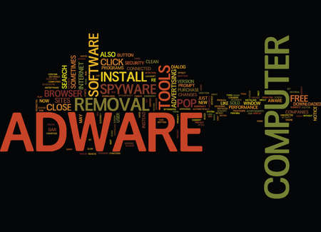 FREE ADWARE REMOVAL Text Background Word Cloud Concept Illustration