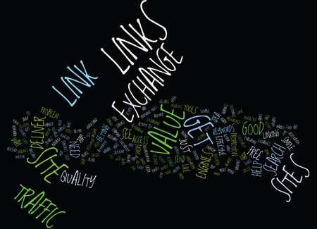 FORGET LINK 교환 가치 교환 텍스트 배경 Word Cloud Concept