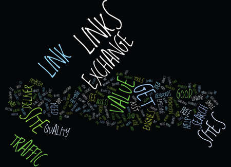 FORGET LINK EXCHANGES EXCHANGE VALUE Text Background Word Cloud Concept