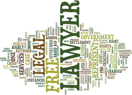 FREE LAWYER Text Background Word Cloud Concept Illustration