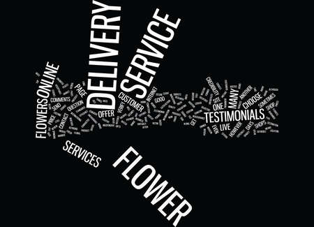 FLOWER DELIVERY SERVICE Text Background Word Cloud Concept