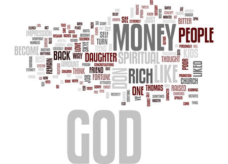 GOD DON T LIKE RICH PEOPLE Text Background Word Cloud Concept