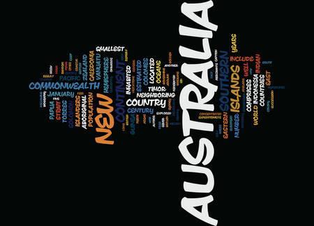 GOLDEN AUSTRALIA Text Background Word Cloud Concept