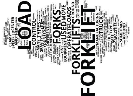 FORKLIFT Text Background Word Cloud Concept Çizim