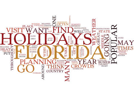 FLORIDA HOLIDAYS Text Background Word Cloud Concept