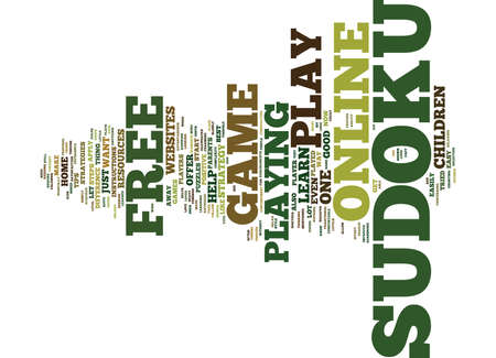 FREE ONLINE SUDOKU Text Background Word Cloud Concept