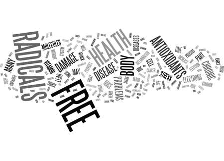 FREE RADICALS SHOULD I BE CONCERNED ABOUT THEM Text Background Word Cloud Concept