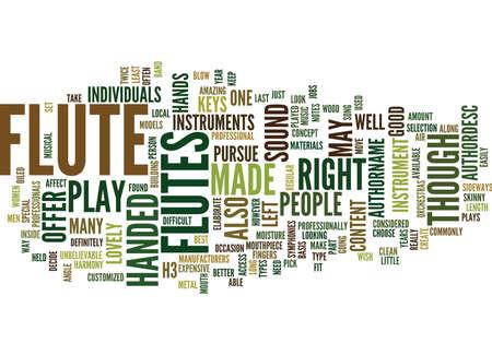 FLUTES Text Background Word Cloud Concept Иллюстрация