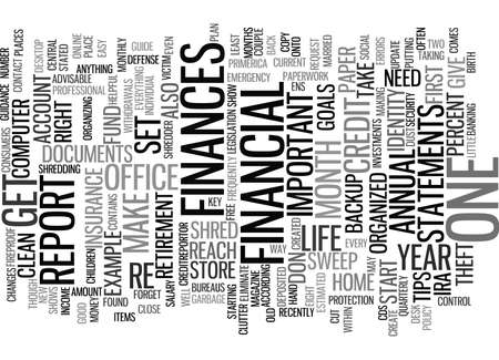 GIVE YOUR FINANCES A CLEAN SWEEP Text Background Word Cloud Concept