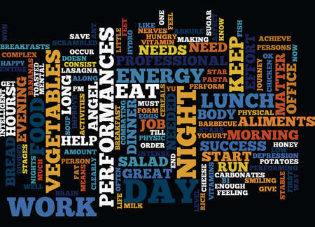 FOOD FOR SUCCESS Text Background Word Cloud Concept Illustration