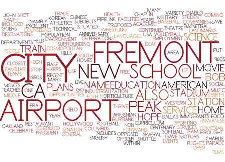 FREMONT CA Text Background Word Cloud Concept Иллюстрация