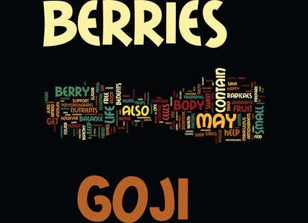 better: GOJI BERRIES Text Background Word Cloud Concept Illustration