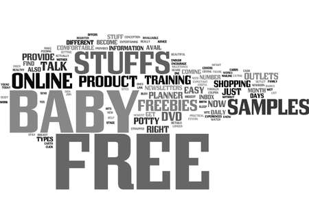 FREE BABY STUFFS ONLINE Text Background Word Cloud Concept