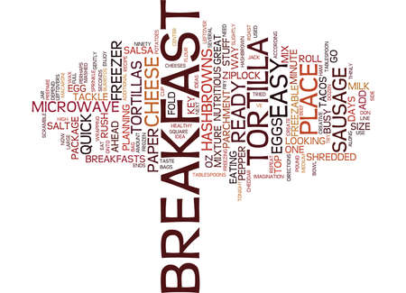 FREEZABLE BREAKFAST TACOS EASY BREAKFAST IDEA Text Background Word Cloud Concept 向量圖像