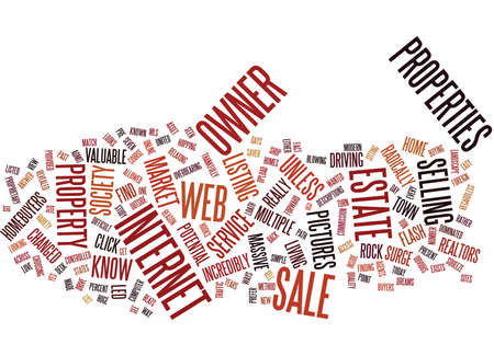 FOR SALE BY OWNER AND THE WEB Text Background Word Cloud Concept