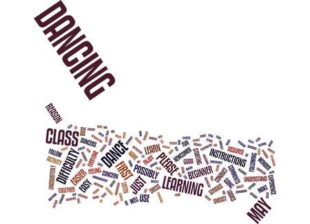 FOR THE BEGINNER DANCER Text Background Word Cloud Concept Иллюстрация