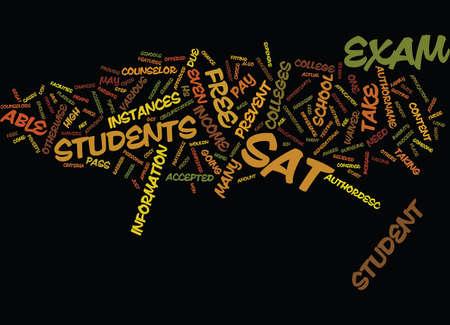 FREE SAT EXAM Fondo de texto Word Cloud Concepto