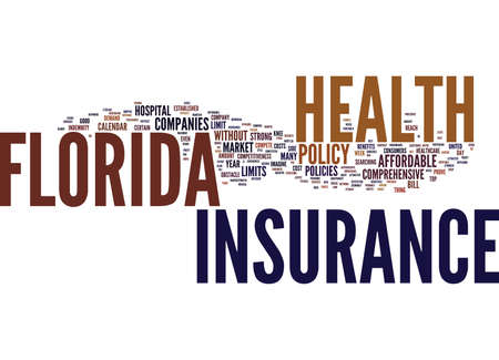 FLORIDA HEALTH INSURANCE Text Background Word Cloud Concept