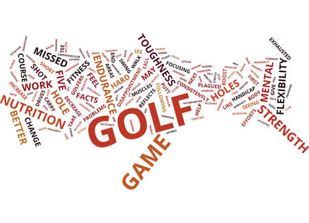 GOLF FACTS THAT WILL CHANGE YOUR GAME Text Background Word Cloud Concept