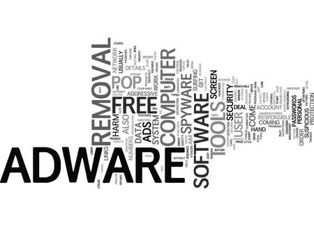 adware: FREE ADWARE Text Background Word Cloud Concept