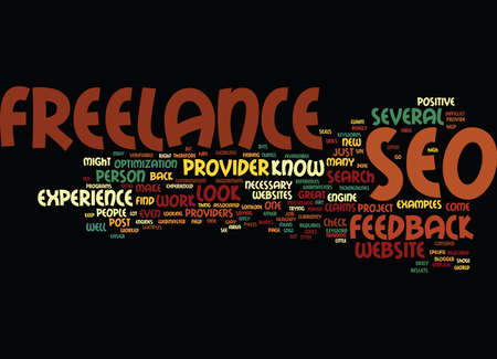 FREELANCE SEO Text Background Word Cloud Concept