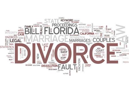 FLORIDA DIVORCE LAW Text Background Word Cloud Concept