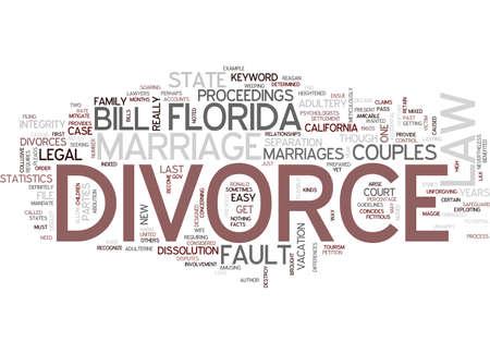 FLORIDA DIVORCE LAW Text Background Word Cloud Concept