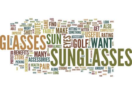 眼鏡本文背景単語雲概念の形でゴルフ アクセサリー
