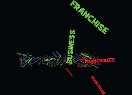 FRANCHISEES BEWARE OF THE FRANCHISOR Text Background Word Cloud Concept