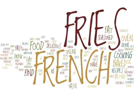 GIVE ME FRENCH FRIES WITH THAT SHAKE Text Background Word Cloud Concept