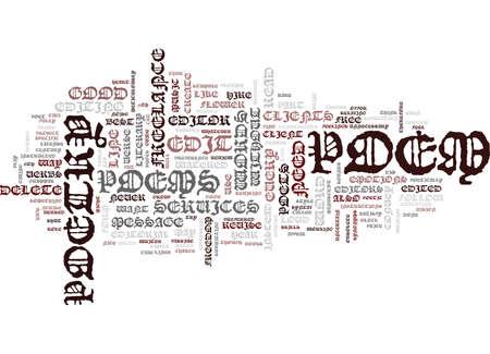 FREELANCE REDACTIONELE DIENSTEN VOOR POÃ‹ZIE Tekstachtergrond Word Cloud Concept Stock Illustratie