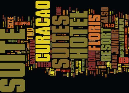 FLORIS SUITE HOTEL CURACAO Text Background Word Cloud Concept