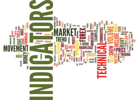 FOREX TECHNICAL INDICATORS REVEALED Text Background Word Cloud Concept