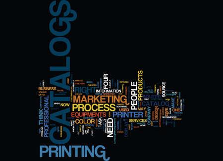 FOUR COLOR YOUR CATALOGS Text Background Word Cloud Concept Illustration