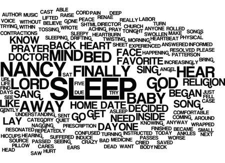 GOD ANSWERED MY PRAYER WITH A SONG Text Background Word Cloud Concept Illustration
