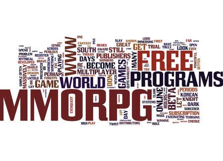 無料 MMORPG 豊富テキスト背景単語雲概念