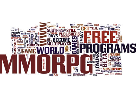 GRATIS MMORPG APLENTIE Tekst Achtergrond Word Cloud Concept