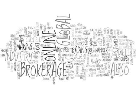 GLOBAL ONLINE BROKERAGE Text Background Word Cloud Concept