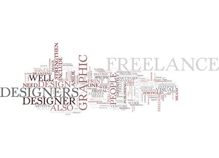 strengthen: FREELANCE DESIGNER Text Background Word Cloud Concept