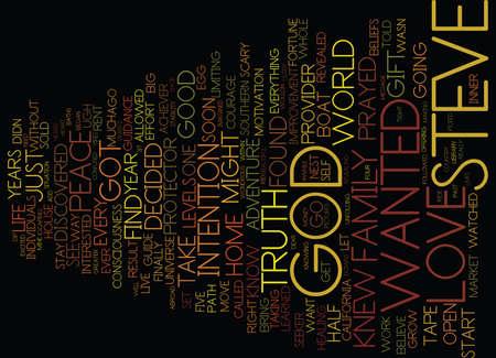 GOD IS MY GUIDE Text Background Word Cloud Concept Ilustração