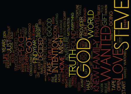 GOD IS MY GUIDE Text Background Word Cloud Concept Illustration