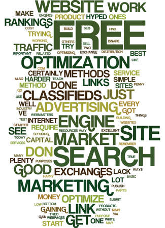 FREE AND LOW COST WAYS TO MARKET YOUR WEBSITE Text Background Word Cloud Concept