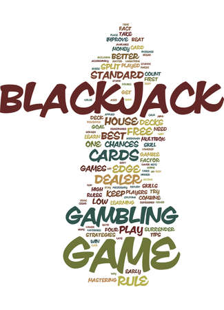 FREE BLACKJACK TIPS Text Background Word Cloud Concept