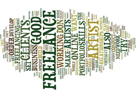 FREELANCE ARTIST Text Background Word Cloud Concept
