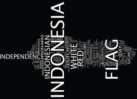 FLAG OF INDONESIA Text Background Word Cloud Concept
