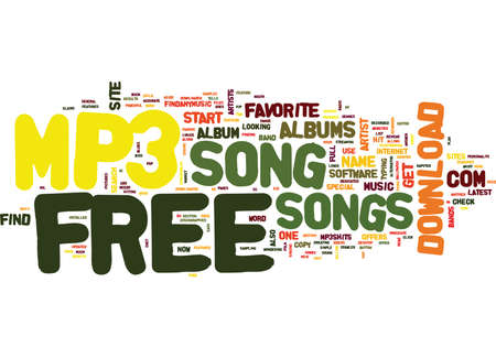 FREE MP SONG Text Background Word Cloud Concept