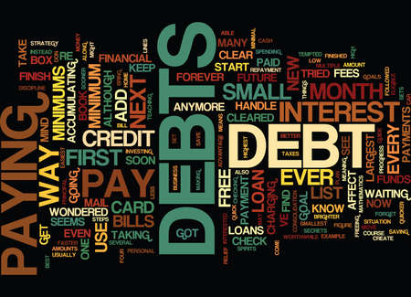 FREE FROM DEBT Text Background Word Cloud Concept