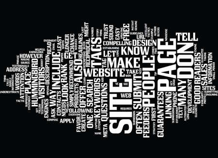 GIVE YOUR WEBSITE A CHANCE Text Background Word Cloud Concept
